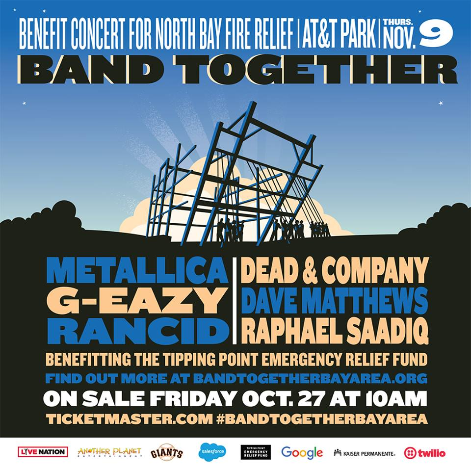 Dave Matthews al Band Together Benefit Concert di San Francisco